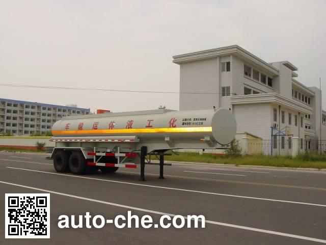 绿叶牌JYJ9330GHY化工液体运输半挂车
