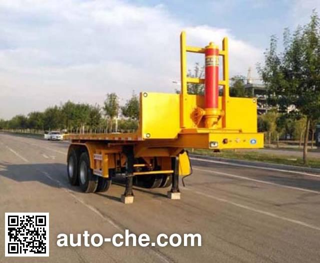 Zhongyuntong JZJ9350ZZXP flatbed dump trailer