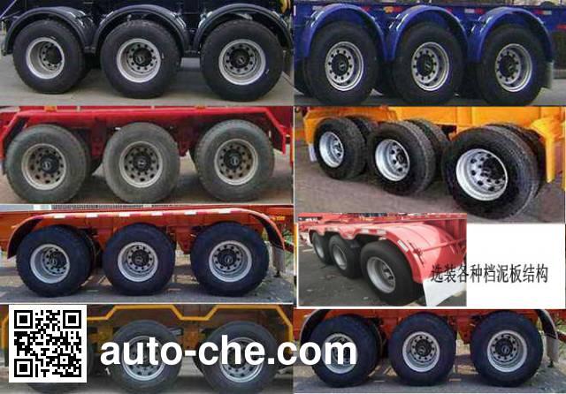 Zhongyuntong JZJ9400ZZXPC flatbed dump trailer