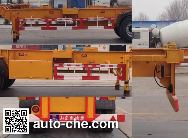 凯迪捷牌KDJ9350TJZ集装箱运输半挂车