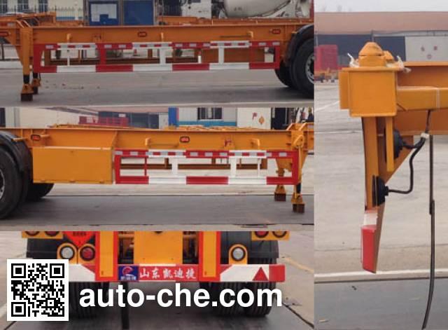 凯迪捷牌KDJ9350TWY危险品罐箱骨架运输半挂车