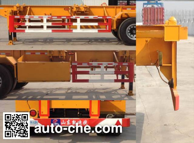 凯迪捷牌KDJ9400TJZ集装箱运输半挂车