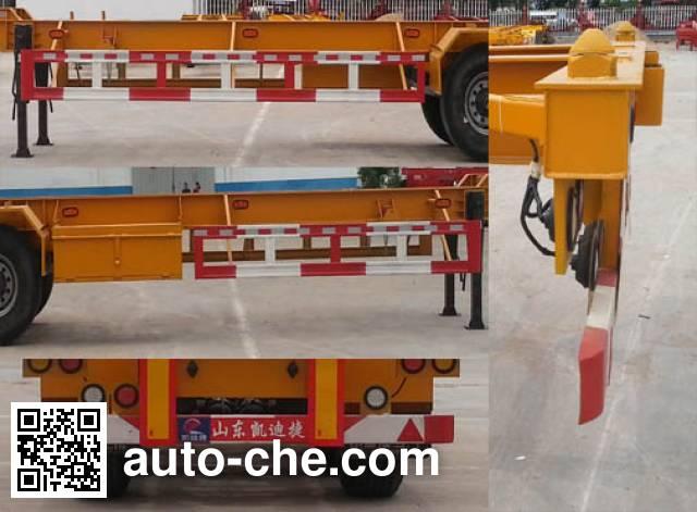 凯迪捷牌KDJ9402TJZE集装箱运输半挂车