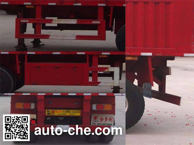 Jinduoli KDL9401XXY box body van trailer