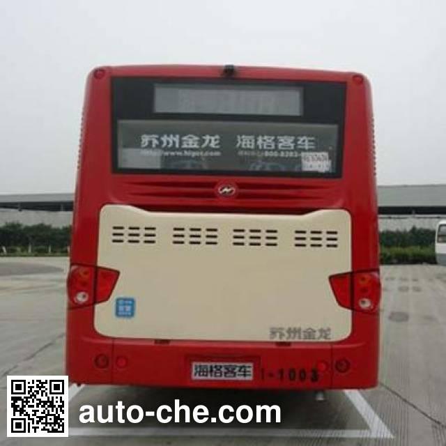 海格牌KLQ6129GAHEVE4D混合动力城市客车