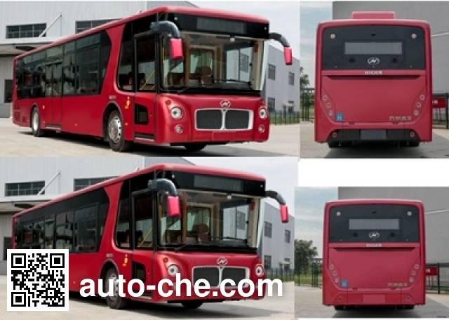 海格牌KLQ6129GAHEVE5D混合动力城市客车