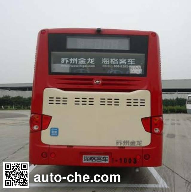 海格牌KLQ6109GAHEVE5B混合动力城市客车