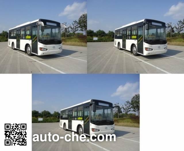 海格牌KLQ6825GAHEVE5E混合动力城市客车