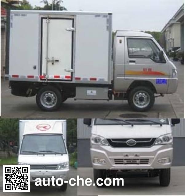 凯马牌KMC5020XXYEV21D纯电动厢式运输车