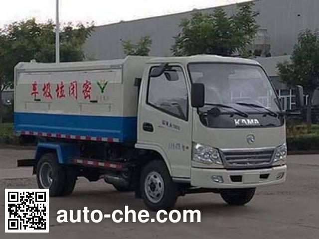 凯马牌KMC5040XTY28D4密闭式桶装垃圾车