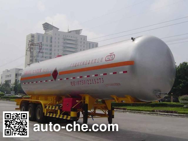 久远牌KP9340GTR永久气体运输半挂车