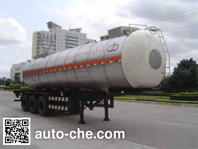 Jiuyuan KP9400GYS liquid food transport tank trailer
