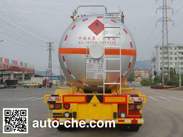 Jiuyuan KP9401GRY flammable liquid tank trailer