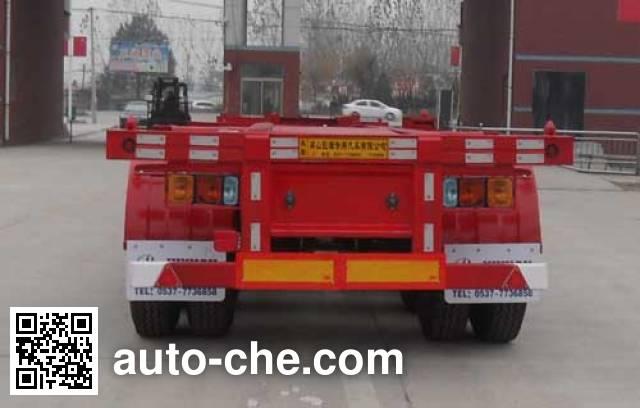 骜通牌LAT9400TJZE集装箱运输半挂车