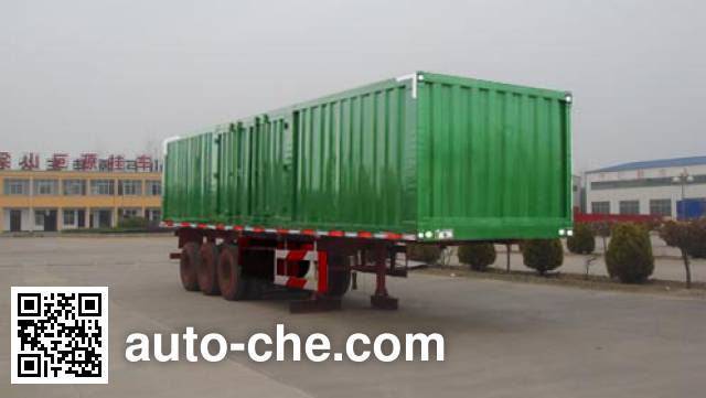 Aotong LAT9404XXY box body van trailer