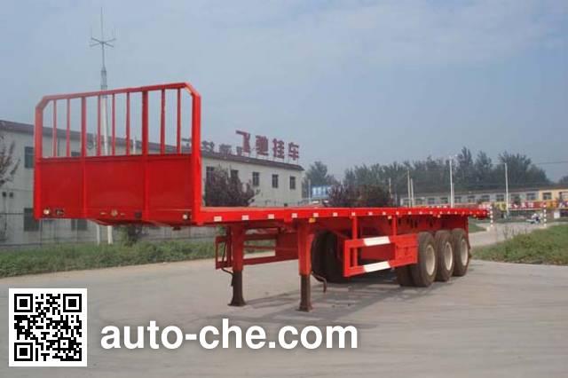 鲁驰牌LC9400TPB平板运输半挂车