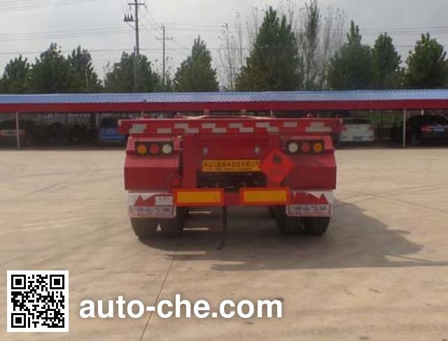 鲁驰牌LC9405TWY危险品罐箱骨架运输半挂车