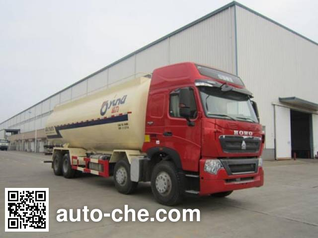 Yunli LG5315GFLZ4 low-density bulk powder transport tank truck