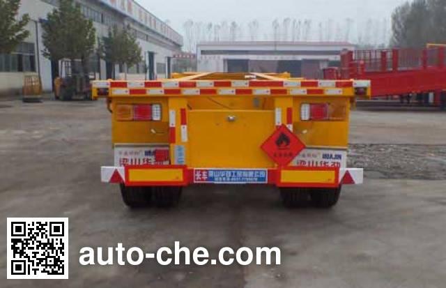 Huasheng Shunxiang LHS9390TWY dangerous goods tank container skeletal trailer