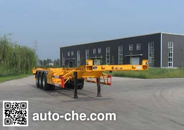 智沃牌LHW9400TJZ集装箱运输半挂车