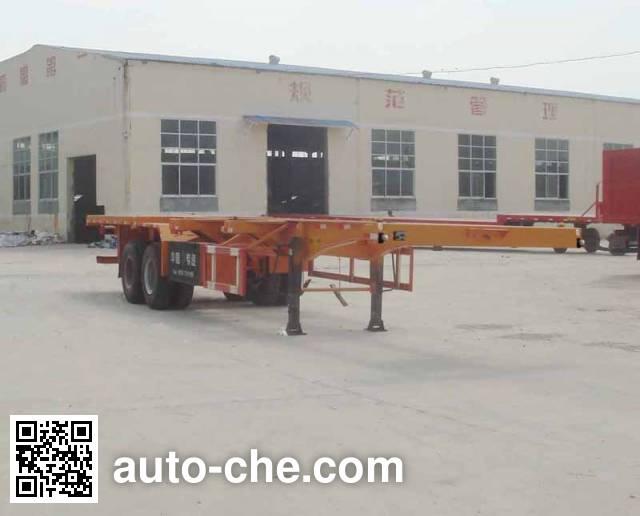 鲁岳牌LHX9351TJZ集装箱运输半挂车