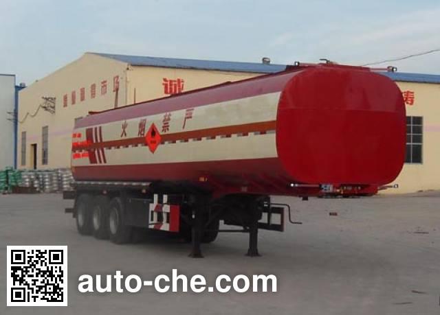 鲁岳牌LHX9400GRY易燃液体罐式运输半挂车