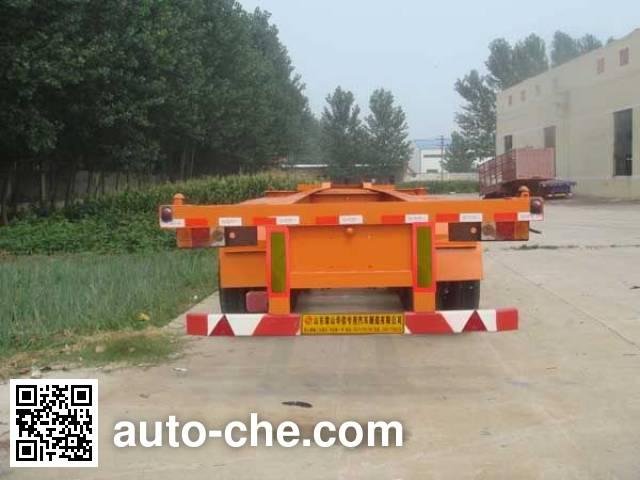鲁岳牌LHX9400TJZ集装箱运输半挂车