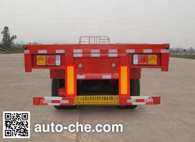 鲁岳牌LHX9400TPBE平板运输半挂车