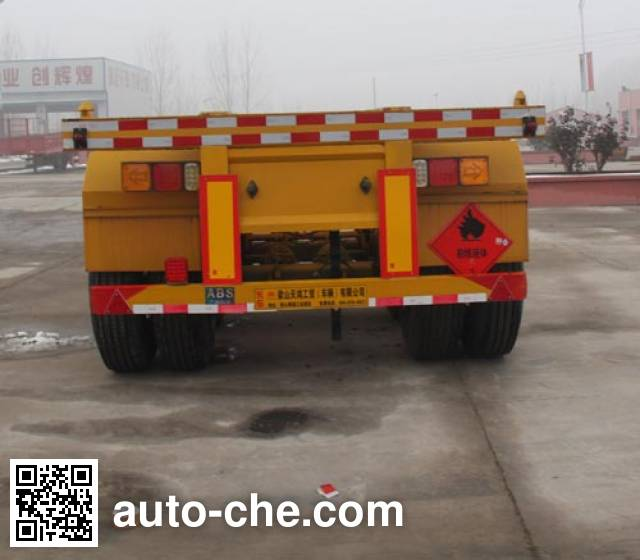 Hualiang Tianhong LJN9350TWY dangerous goods tank container skeletal trailer