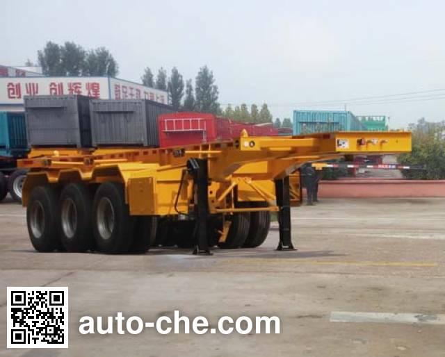 Hualiang Tianhong LJN9402TWY dangerous goods tank container skeletal trailer