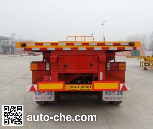 Hualiang Tianhong LJN9406ZZXP flatbed dump trailer