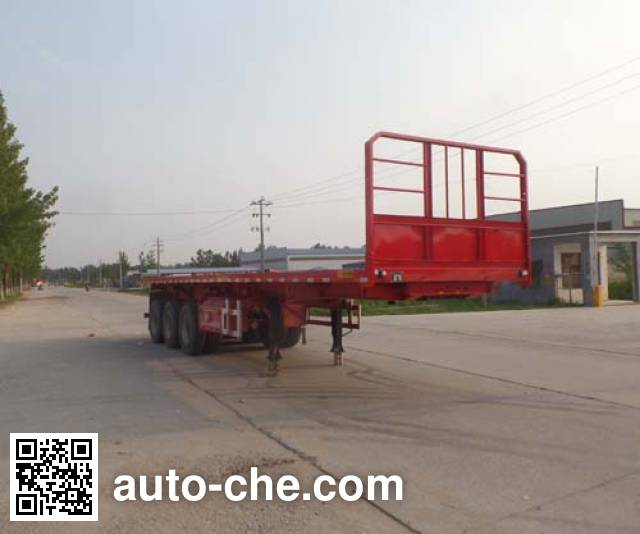 辰陆牌LJT9400ZZXPC平板自卸半挂车