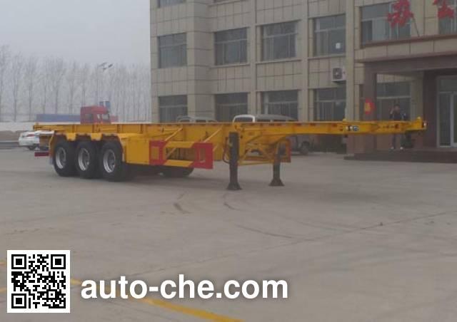 Kunbo LKB9400TWY dangerous goods tank container skeletal trailer