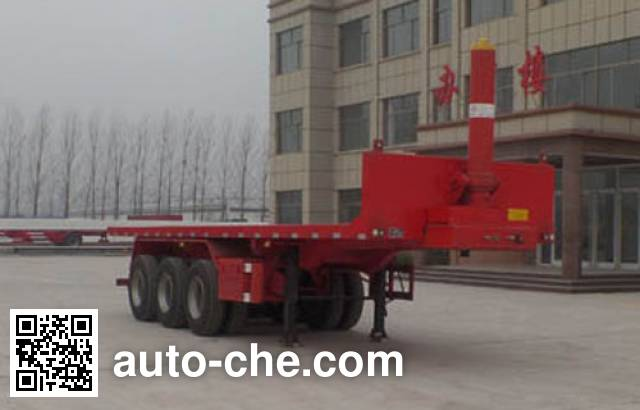Kunbo LKB9401ZZXP flatbed dump trailer