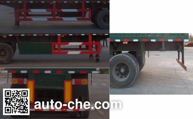 Ruiyida LLJ9400XXY box body van trailer