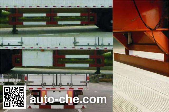 Nanming LSY9310XXY box body van trailer