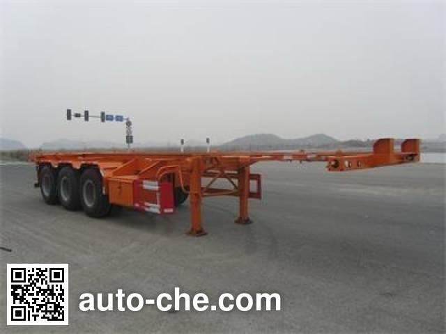 Nanming LSY9400TWY dangerous goods tank container skeletal trailer