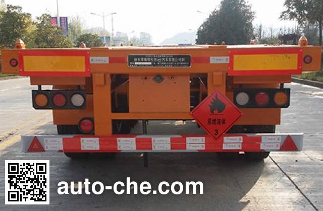 Nanming LSY9408TWY dangerous goods tank container skeletal trailer