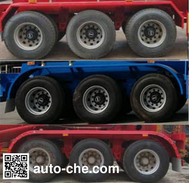 显鹏牌LTH9401GFL低密度粉粒物料运输半挂车