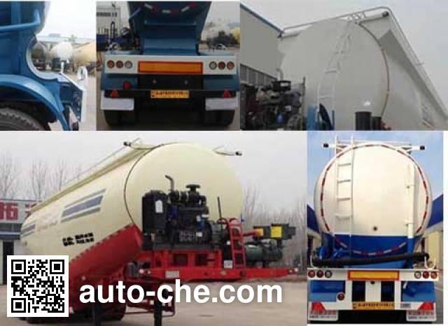 Jinxianling LTY9400GFL low-density bulk powder transport trailer