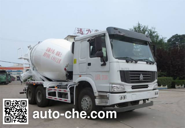 迅力牌LZQ5254GJB40AD混凝土搅拌运输车