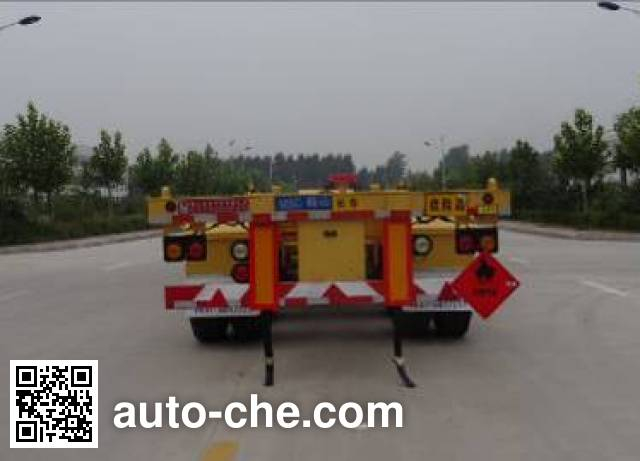 Mengshan MSC9350TWY dangerous goods tank container skeletal trailer
