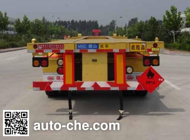 Mengshan MSC9351TWY dangerous goods tank container skeletal trailer