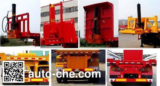 Hehai Mingzhu MZC9400ZZXP flatbed dump trailer