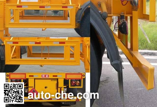 Mingwei (Guangdong) NHG9350TWYA dangerous goods tank container skeletal trailer
