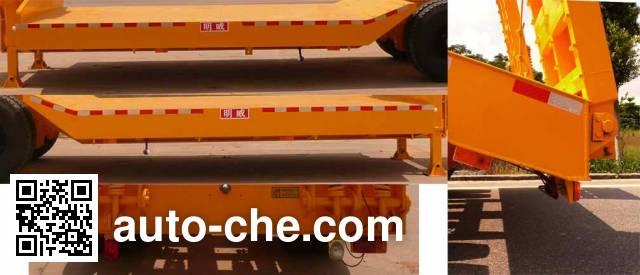 明威牌NHG9351TD低平板半挂车