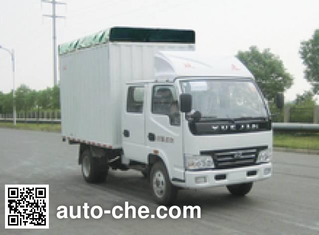 Yuejin NJ5031CPYHFBNS soft top box van truck