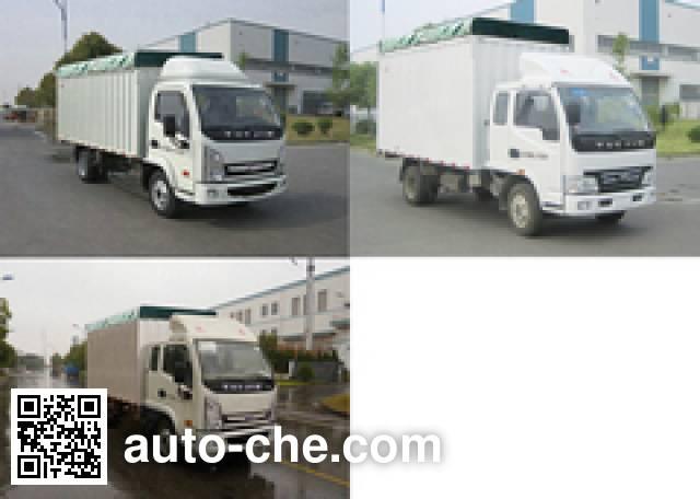 Yuejin NJ5031CPYHFBNZ soft top box van truck