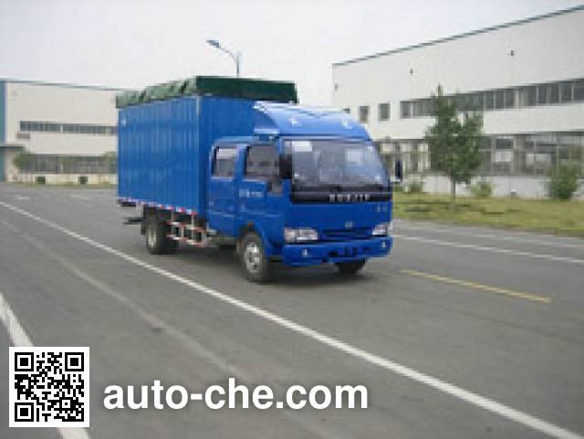 Yuejin NJ5040CPYDCFS5 soft top box van truck