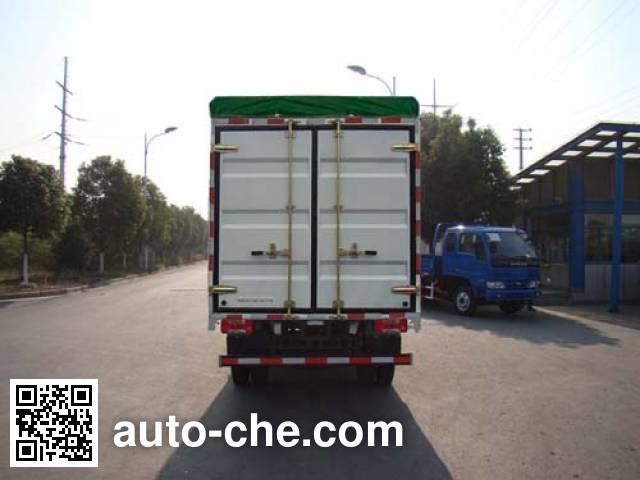 Yuejin NJ5041CPYZCDCNS soft top box van truck